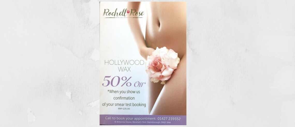 50% off Hollywood Wax when you show confirmation of your smear test booking