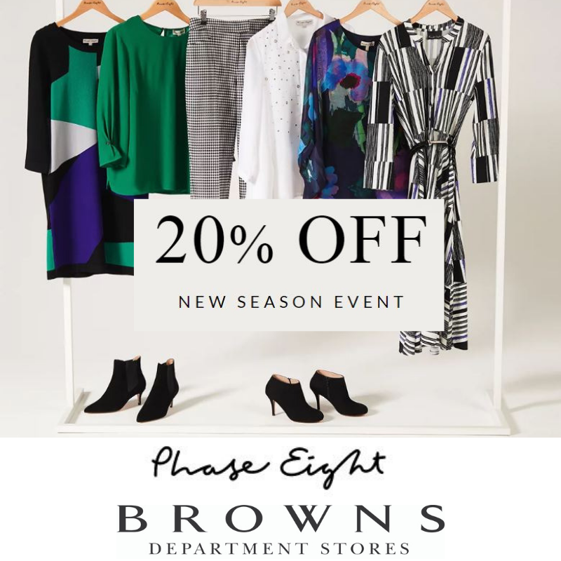 20% off Phase Eight at Browns Department Stores