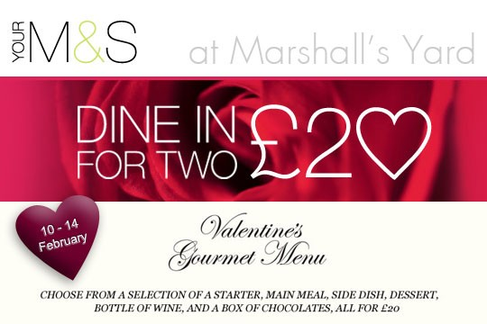 dine in for 2 for £20 this valentine's day at m&s - retail, Ideas