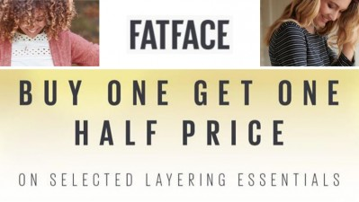 FatFace Buy One Get One Half Price on selected layering essentials