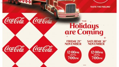 Coca Cola Truck Tour comes to Marshall's Yard!