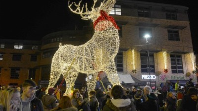 Big Christmas lights switch on attracts record breaking crowds to Gainsborough